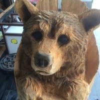 ガラス修理で熊に出会う