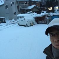 この時期はテラスの落雪が多いようですね