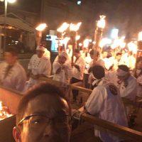 火事が起きないことを願って! 白銀町の火神輿を担いできました